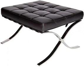 Scaun pentru picioare Rodolfo, negru, 44 x 58 x 54 cm