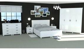 Dormitor Dynasty Alb cu pat 160x200 cm