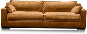 Canapea portocaliu apus din viscoza si lemn pentru 4 persoane Metro
