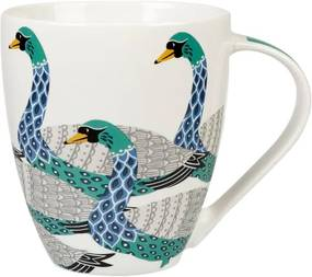 Cană din porțelan Churchill China Geometric Swans, 500 ml