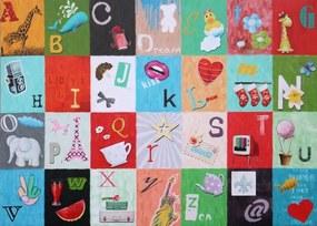 Falc Tablou pe pânză - Alphabet, 50x70 cm