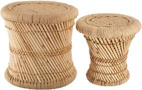 Set de scaune,din iută și bambus, Atmosphera, 2 bucati