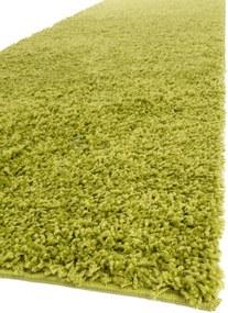 Traversa Shaggy Swirls Verde  - 80x300 cm