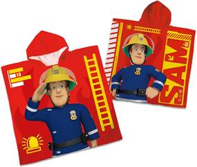 Poncho de copii Pompierul Sam, 60 x 120 cm
