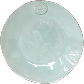 Farfurie din gresie ceramică pentru desert Costa Nova Blue, ⌀ 21 cm, turcoaz
