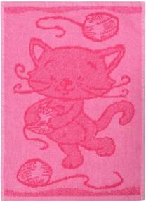 Prosop copii Cat pink, 30 x 50 cm