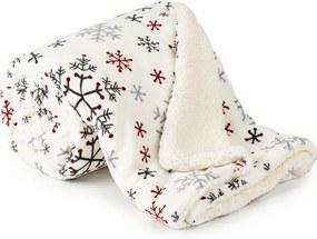 Pătură imitație lână 4Home Snowflakes, 150 x 200 cm
