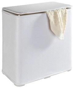 Coș pliabil de rufe Wenko Wanda, 65 l, alb