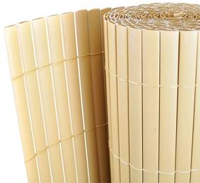 Gard cu Faţă Dublă din PVC Galben 500 x 200 cm Şipcă 12 mm