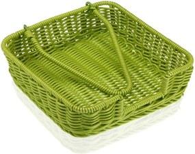 Coș pentru șervețele din hârtie Versa Wonda, 20 x 20 cm, verde