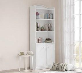 Biblioteca din pal cu 2 usi, pentru tineret Selena Grey Alb / Gri, l70xA33xH187 cm