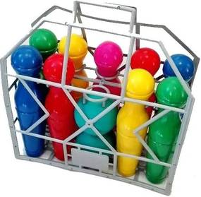 Set de bowling cu 9 popice Colour Fun