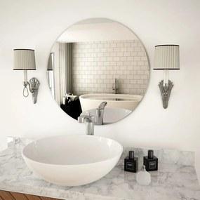 245704 vidaXL Oglindă de perete, 60 cm, sticlă, rotundă