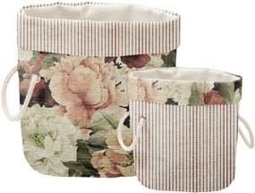 Set 2 coșuri decorative Linen Roses