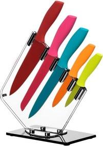 Set 5 cuțite cu suport Premier Housewares Soft Grip