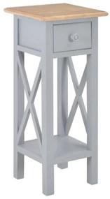 280058 vidaXL Masă laterală, gri, 27 x 27 x 65,5 cm, lemn