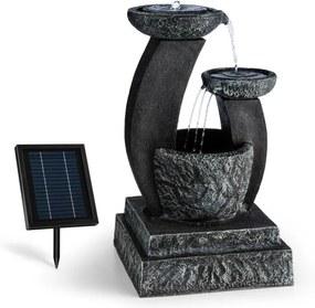 Blumfeldt Fantaghiro, fântână de grădină ornamentală, 3W LED-uri solare, aspect de piatră, polyresin