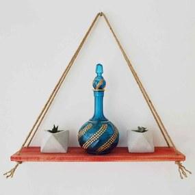 Raft de Perete din Lemn Masiv cu Franghie  CPT1115-50 (50x15 cm)