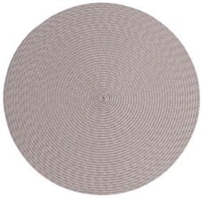 Suport rotund pentru farfurie Zic Zac Round Chambray, ø 38 cm, gri