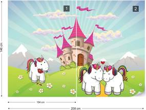 Fototapet GLIX - Unicorn Castle  + adeziv GRATUIT Tapet nețesute - 254x184 cm