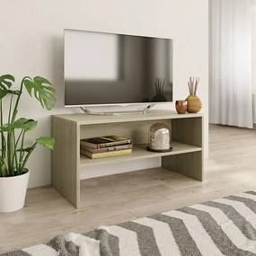 800057 vidaXL Comodă TV, stejar Sonoma, 80x40x40 cm, PAL