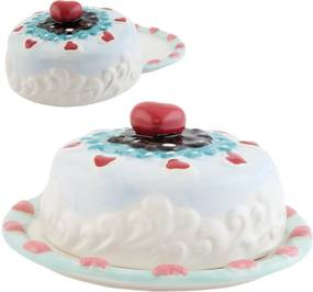 Platou decorativ ceramica cu capac Cuore  Ø 19*9 H