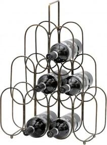 Suport din metal Feast, pentru 9 sticle de vin