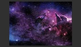 Fototapet Bimago - Purple Nebula + Adeziv gratuit 300x210 cm