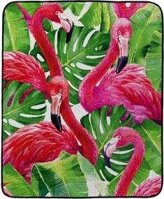 Home patura colorata pliabila de picnic Butter Kings Dark Flamingos