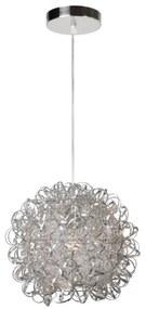 Lucide 08402/35/12 - Lampa suspendata NOON 1xE27/60W/230V crom 34 cm