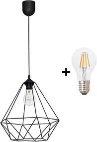 LED Lampă suspendată BASKET 1xE27/8W/230V