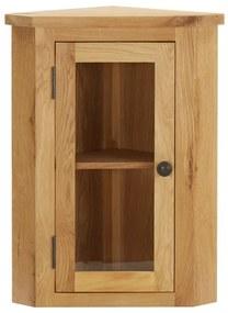 289203 vidaXL Dulap de colț suspendat, 45x28x60 cm, lemn masiv de stejar