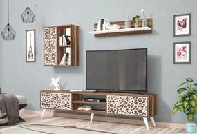 Comoda Tv Soft cu Raft - Nuc/Alb