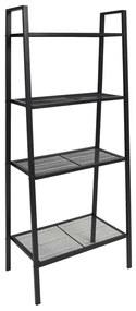 245972 vidaXL Bibliotecă tip scară, 4 trepte, metal, negru