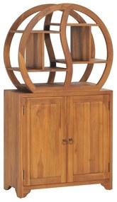 320774 vidaXL Dulap cu raft Yin Yang, 70 x 30 x 130 cm, lemn masiv de tec