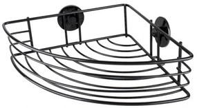 Etajera baie colt, Black Wall, otel, 8.7x31x22 cm