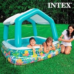 Piscină Gonflabilă cu Umbrelă Casă Intex