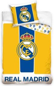 Lenjerie de pat Real Madrid Yellow stripes, 160 x 200 cm, 70 x 80 cm, 160 x 200 cm, 70 x 80 cm