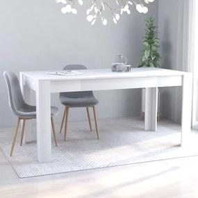 801292 vidaXL Masă de bucătărie, alb, 160 x 80 x 76 cm, PAL