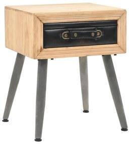 245775 vidaXL Noptieră, 43x38x50 cm, lemn masiv de brad