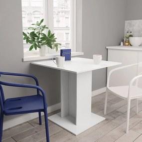 800252 vidaXL Masă de bucătărie, alb, 80 x 80 x 75 cm, PAL