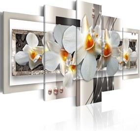 Tablou - White discretion 100x50 cm