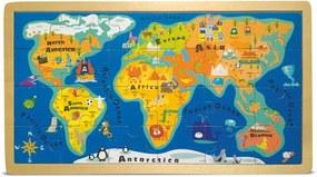 Puzzle cu ramă Legler World Map