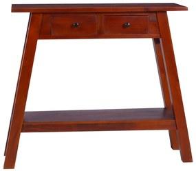 288892 vidaXL Masă consolă, maro clasic, 90x30x75cm, lemn masiv de mahon