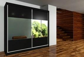 Expedo Dulap cu uși glisante si oglindă IRINA, 200x216x61, negru