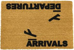 Covoraș intrare din fibre de cocos Artsy Doormats Arrivals and Departures, 40 x 60 cm