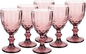 Set de pahare de vin, 6buc, 240 ml, roz, FREGATA TYPE 3