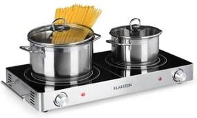 Klarstein VARICOOK DUO, plită de gătit, 3000 w, oțel inoxidabil, mânere, argintiu