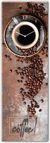 Ceas de perete din sticlă Styler First Coffee, 20 x 60 cm