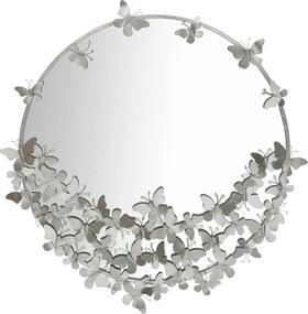 Oglindă de perete Mauro Ferretti Round Silver, ø 91 cm, argintiu